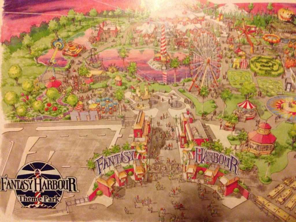 Concept art for Fantasy Harbor - predecessor to Hard Rock Park
