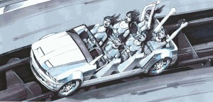 Mustang Sally Vehicle Concept Art Hard Rock Park
