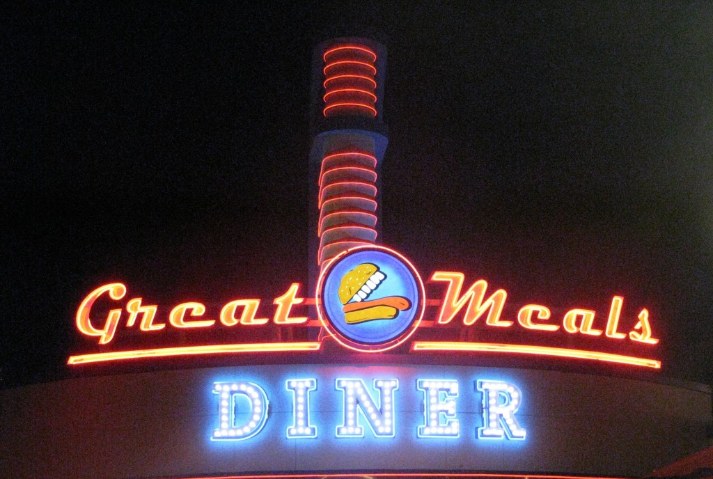 Great Meals Diner Sign Working Properly
