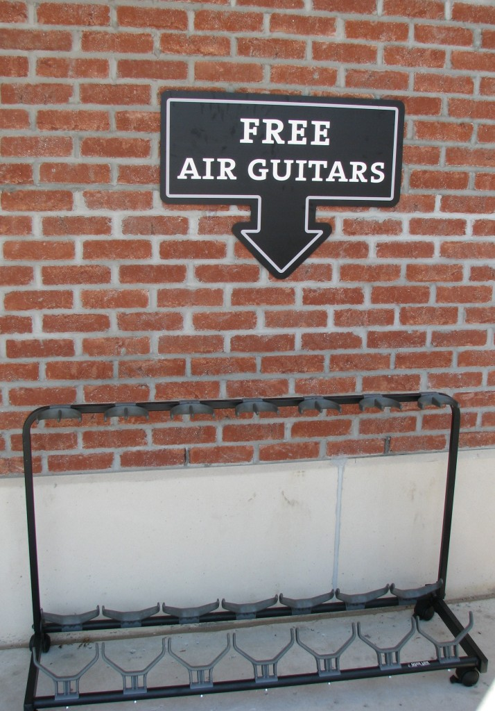 Hard Rock Park - Giving Away Free Air Guitars!!