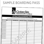 Cedar Fair Return Time Card