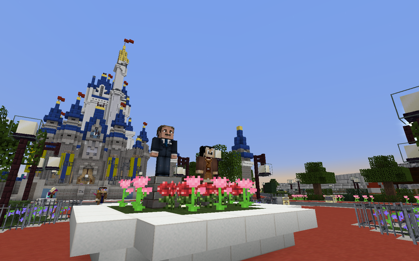 Virtual magic kingdom unofficially reborn on minecraft theme partners statue complete with jedi mickey for star wars weekends gumiabroncs Image collections