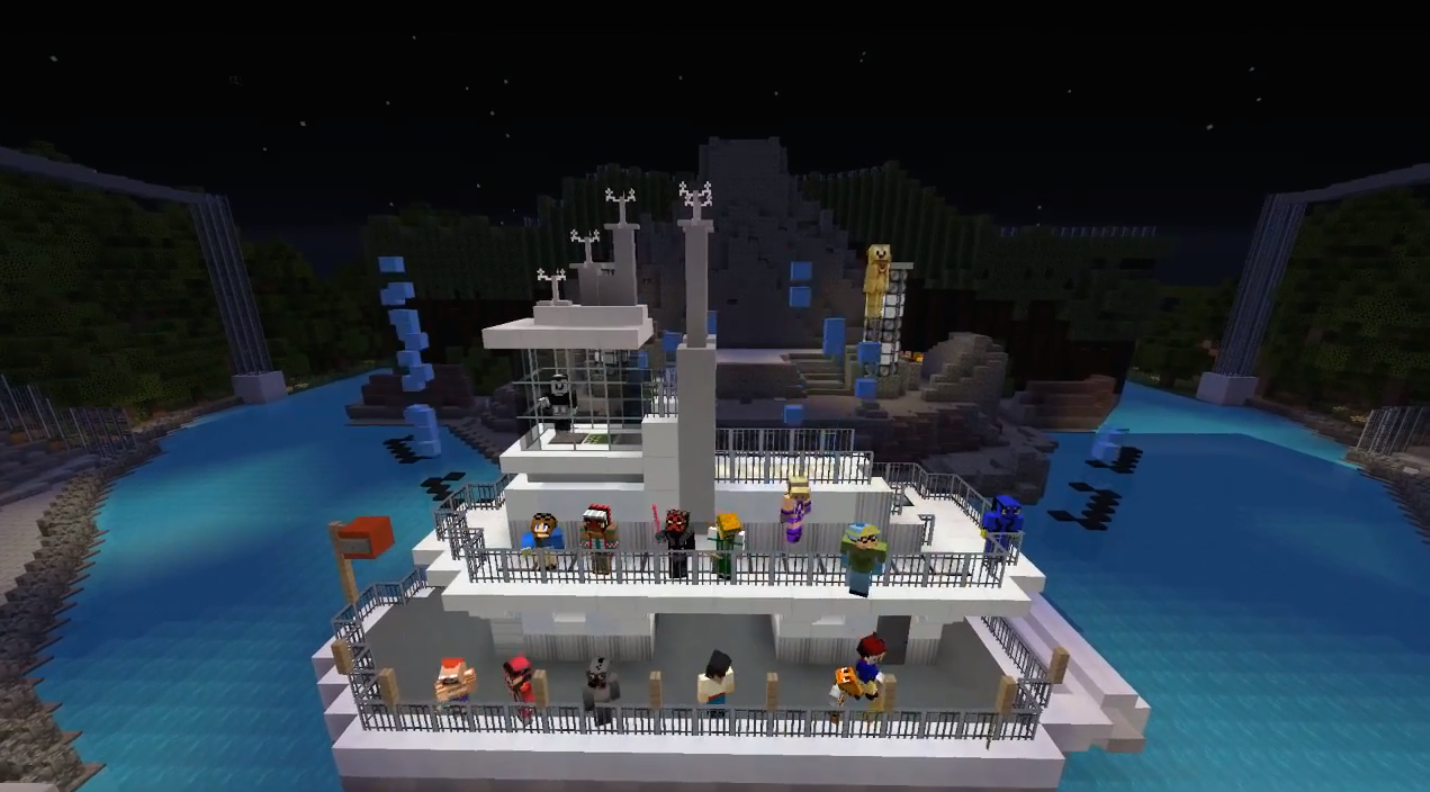 Virtual magic kingdom unofficially reborn on minecraft theme finale of fantasmic gumiabroncs Image collections