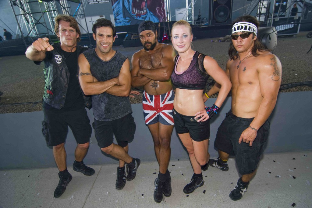 Cast of Roadies Stunt Show Copyright HRP USA LLC