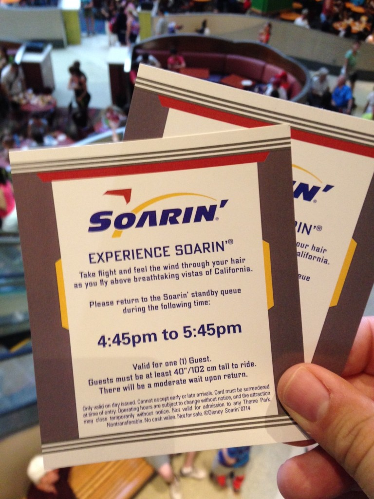 Soarin Return Time Test