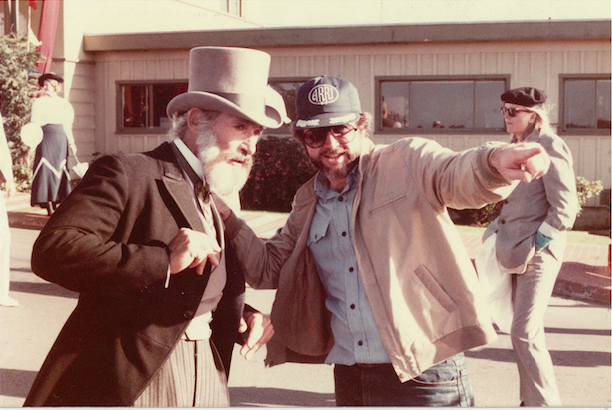 Gary Goddard on location with Phineas T. Flagg shooting the finale sequence for The Sensorium Copyright The Goddard Group