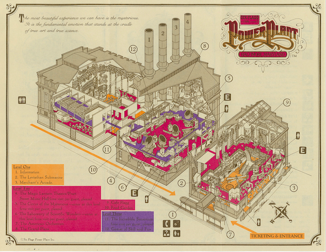 Six Flags Power Plant Park Map Copyright The Goddard Group All Rights Reserved