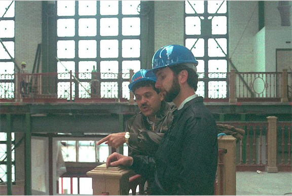 Joe DeMeis takes Tony Christopher on site tour and review during the early part of construction Copyright The Goddard Group All Rights Reserved