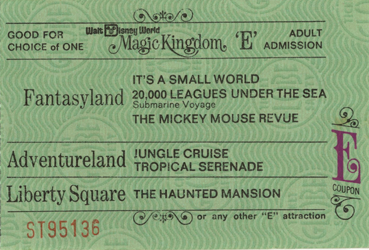 Disney World E Ticket