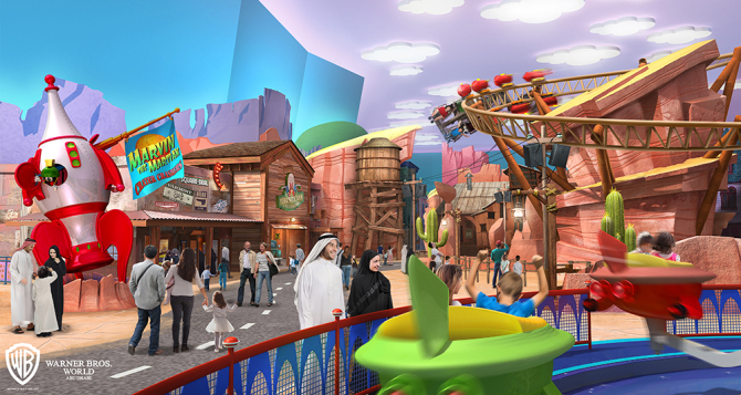 Warner Brothers Theme Park In Abu Dhabi Unveils Concept